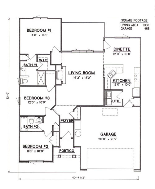 House Plans and Home Designs FREE » Blog Archive » 1500 SQ FT